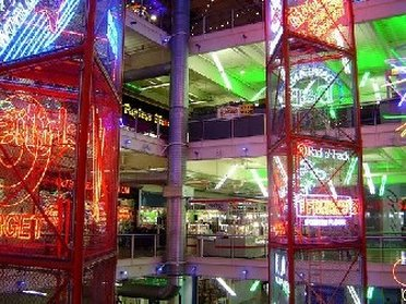 Neon view of Palisades Mall