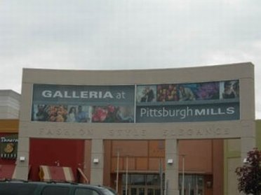 Outside view of Pittsburgh Mills Mall