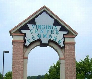 Virginia Center Mall welcome gates